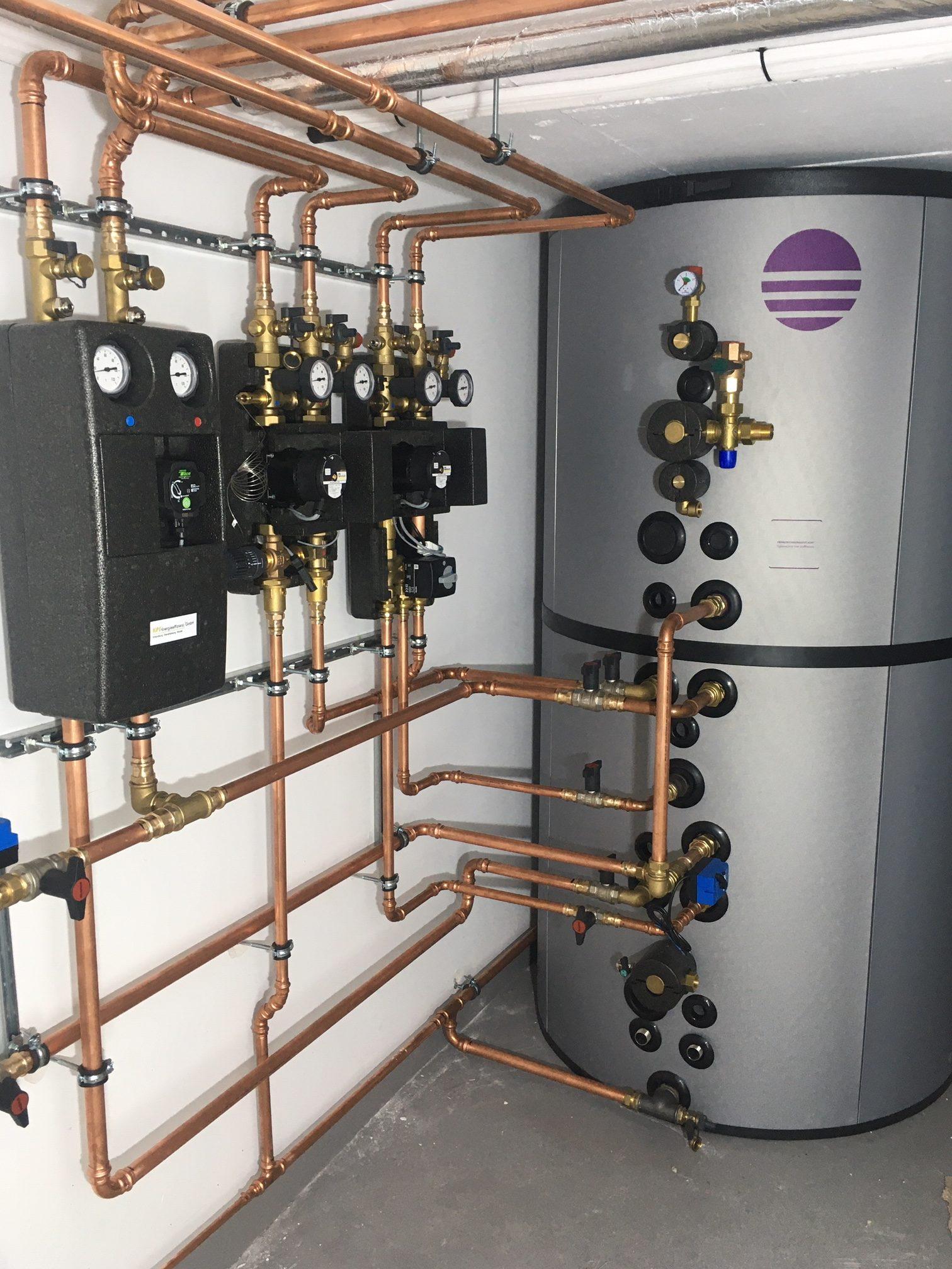 Warmwasserspeicher Mit Hydraulik Für Solar Heizung Warmwasser